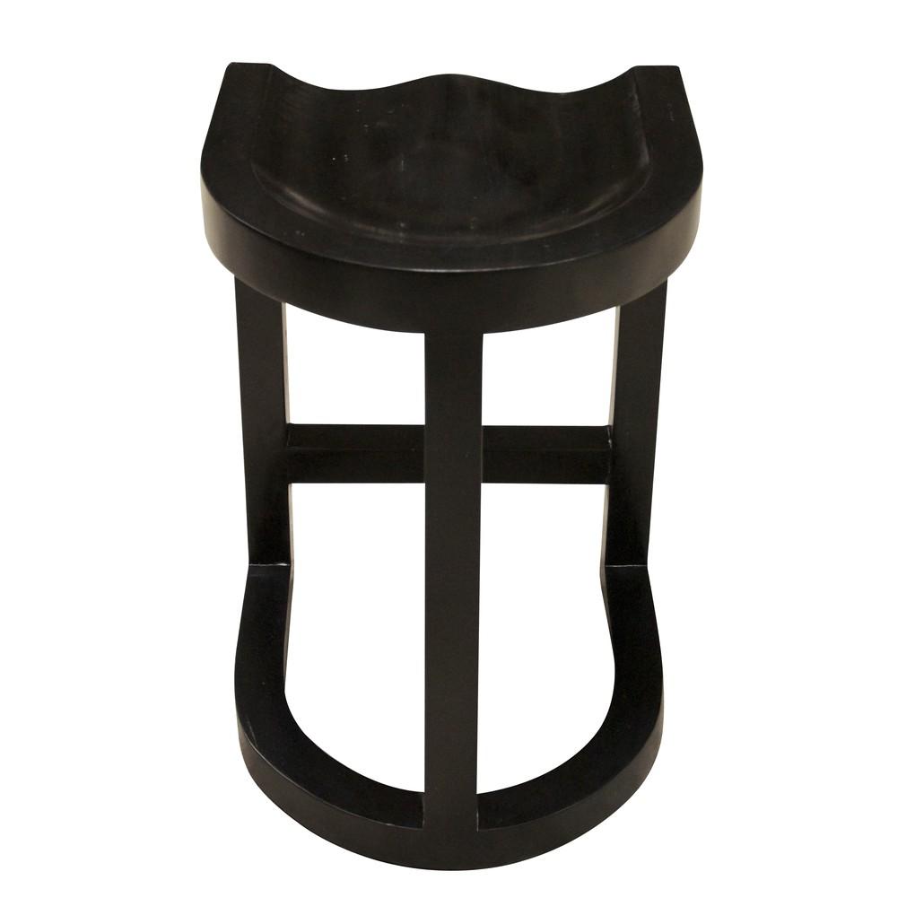 Saddle Counter Stool   Noir