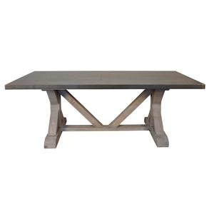 Zinc Top Dining Table | Noir