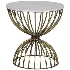 Hourglass Side Table | Noir