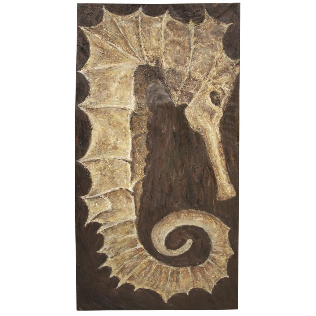 Sea Horse Art   Noir