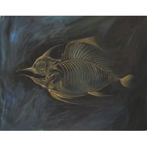 Golden Fish Bone Art