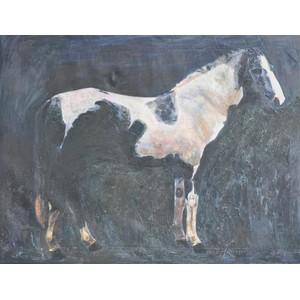 White and Black Horse Art