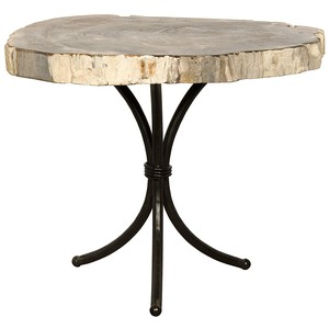 Accent Table with Petrified Top | Noir