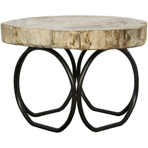 Four Circle Table with Petrified Top | Noir