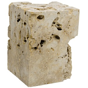 Cheese Stone Side Table/Stool | Noir