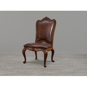 Villa Cortina Leather Upholstered Back Side Chair
