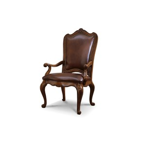 Villa Cortina Leather Upholstered Back Arm Chair | Universal Furniture