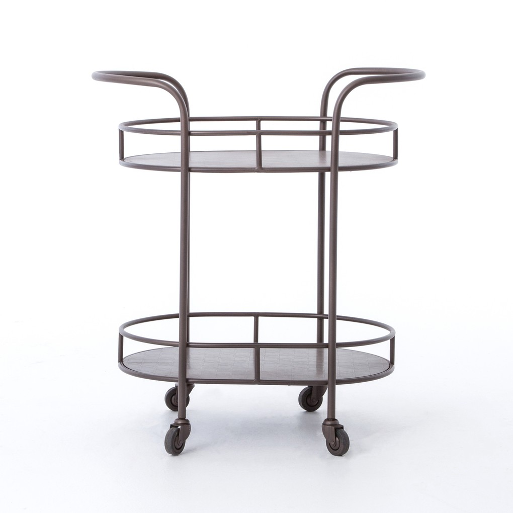 Teague Oval Bar Cart | Four Hands