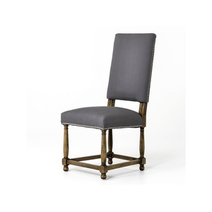 Connor Gray Linen Dining Chair