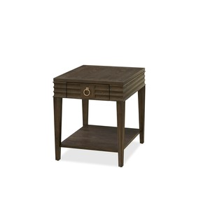 California Drawer End Table