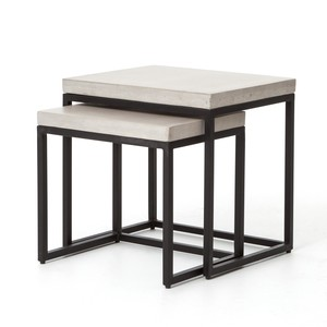 Maximus Indoor/Outdoor Nesting Side Tables
