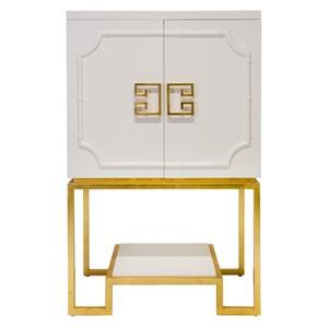 White Lacquer Bar Cabinet