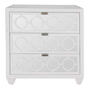 Ava Three-Drawer Nightstand | Worlds Away
