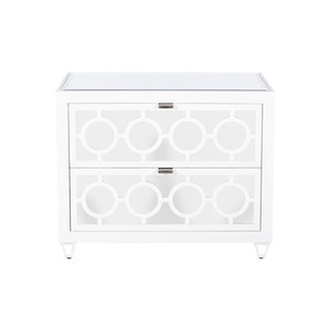 Barkley Two-Drawer Nightstand | Worlds Away