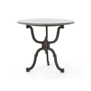 Iron Bistro Pedestal Table