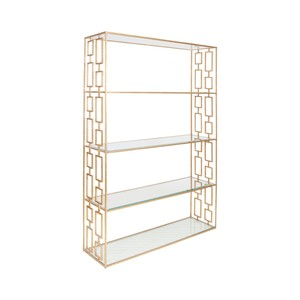 Hammered Gold Leaf Etagere | Worlds Away