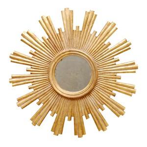 Gold Leaf Starburst Mirror   Worlds Away