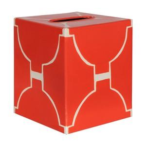 Kleenex Box Orange and Cream