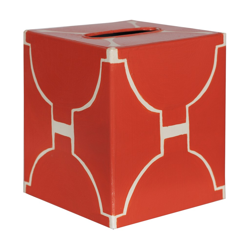 Kleenex Box Orange and Cream | Worlds Away