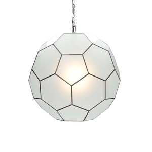 """Small Frosted Glass 9"""" Knox Pendant"""