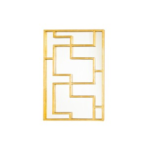 Retangular Oriental Mirror Panel Gold Leaf