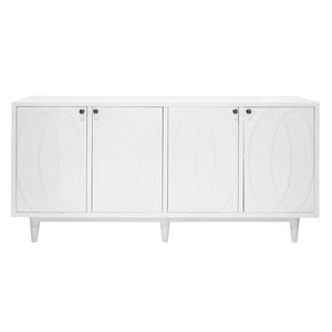 White Lacquer Four Door Cabinet