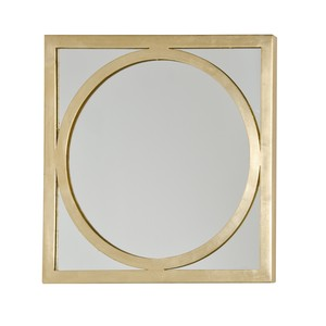 Square Gold Leaf Mirror O | Worlds Away