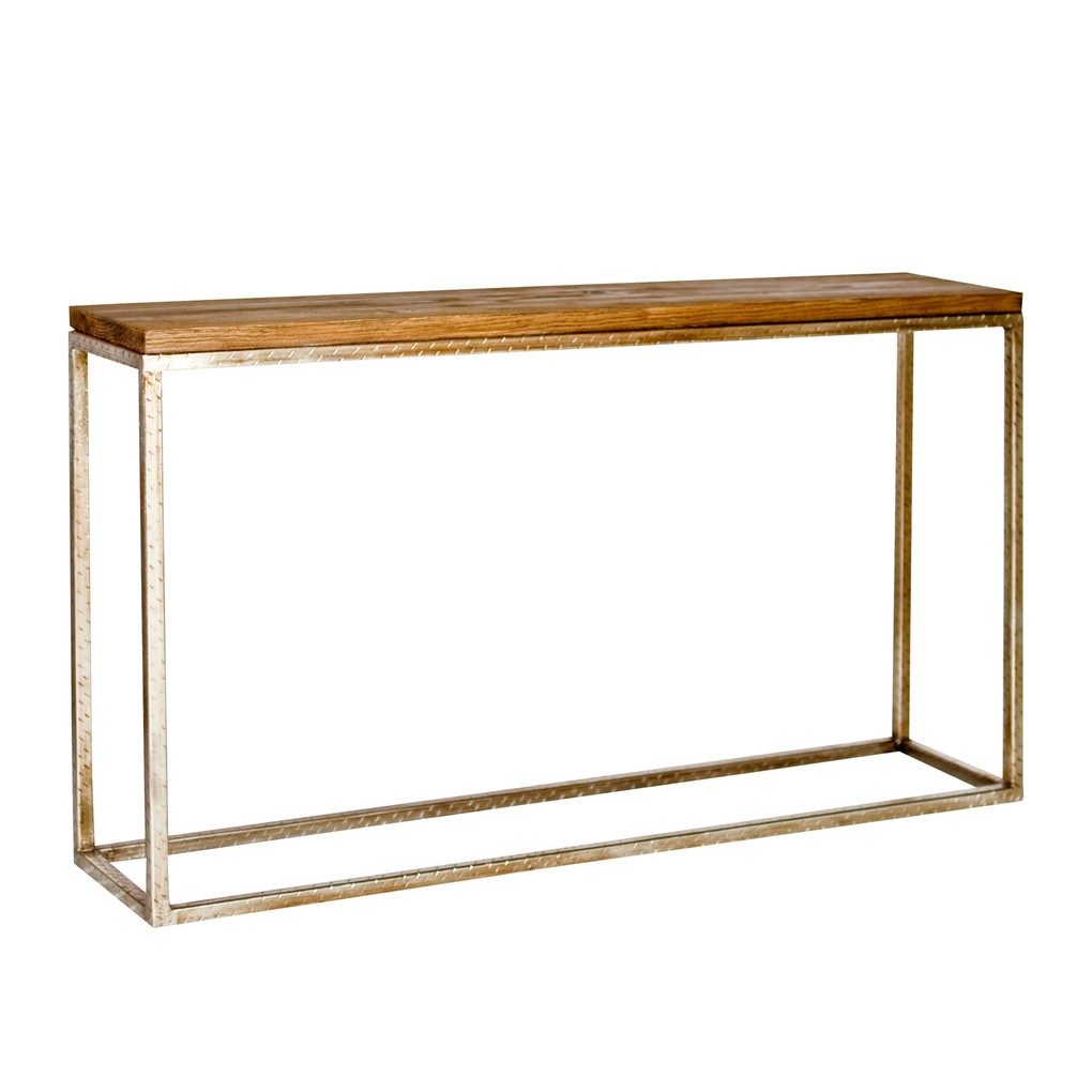 Plankton Console with Silver Leaf Base | Worlds Away