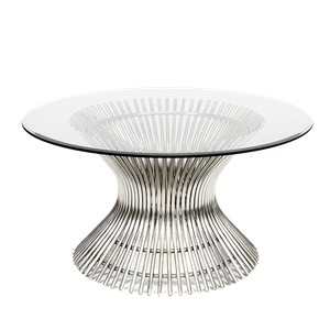 """Polished Stainless Steel 42"""" Coffee Table 