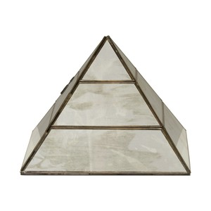 Antique Mirror Large Pyramid | Worlds Away
