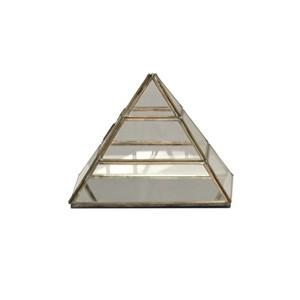 Clear Glass Medium Pyramid