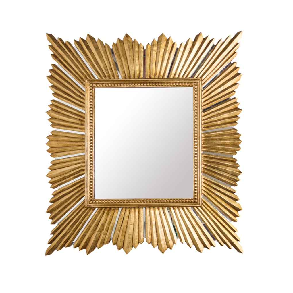 Gold Leaf Raymond Mirror | Worlds Away