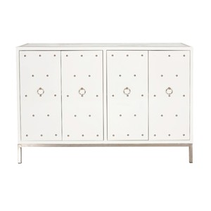 White Lacquer Studded Buffet