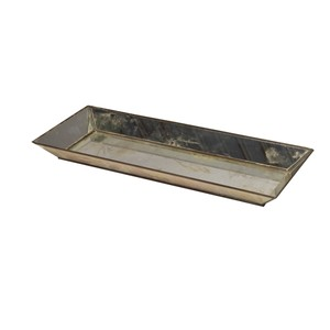 Rectangular Antique Mirror Tray | Worlds Away