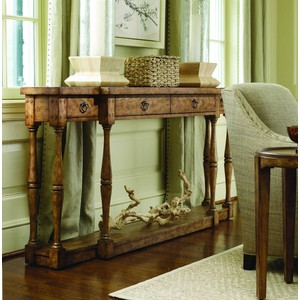 Sanctuary FourDrawer Thin Console | Hooker Furniture