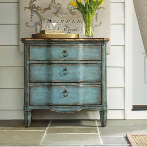 Three-Drawer Turquoise Chest | Hooker Furniture