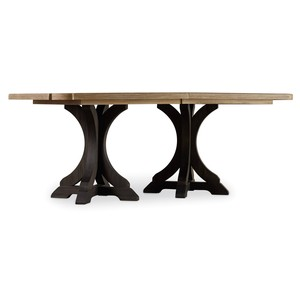 Corsica Dark Rectangle Pedestal Dining Table | Hooker Furniture