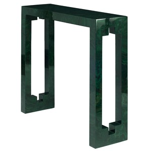 Larger Console Table in Malachite Cut Out Detail