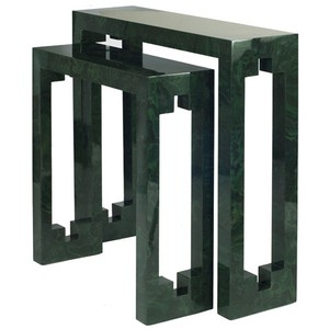 Small Console Table In Malachite Cut Out Details