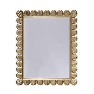 Gold Leaf Mirror Hand Crafted Scallop Edge Frame | Worlds Away
