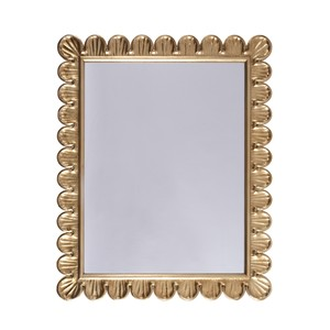 Gold Leaf Mirror Hand Crafted Scallop Edge Frame
