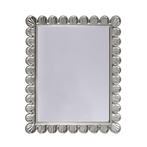 Silver Leaf Mirror Handcrafted Scallop Edge Frame