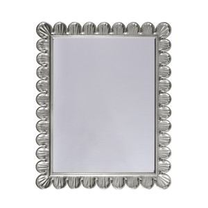 Silver Leaf Mirror Handcrafted Scallop Edge Frame | Worlds Away