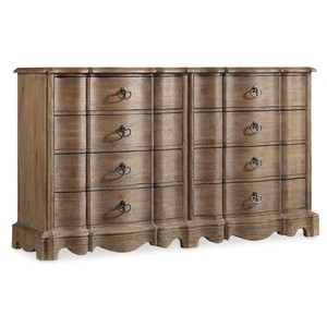 Corsica Eight-Drawer Dresser | Hooker Furniture