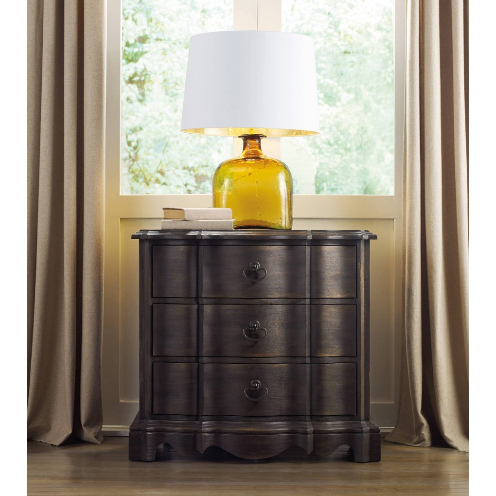 Corsica Dark Three-Drawer Nightstand | Hooker Furniture
