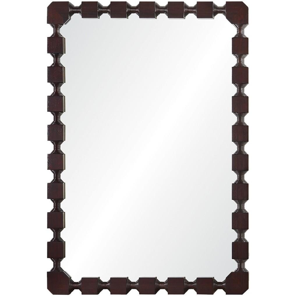 Dark Mahogany Mirror   Mirror Image Home