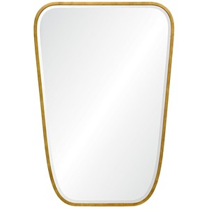 Burnished Gold Leaf Iron Mirror | Mirror Image Home