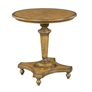Greyson Pedestal Lamp Table | Woodbridge Furniture