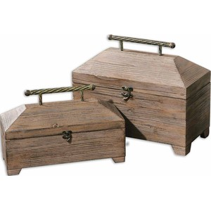 Tadao Natutal Wood Boxes | The Uttermost Company