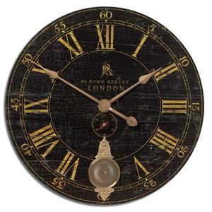 """Bond Street 30"""" Black Wall Clock"""